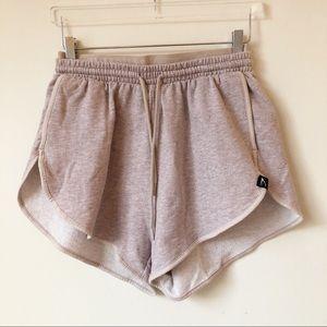Gymshark Heather Dual Band Shorts Blush Nude Marl